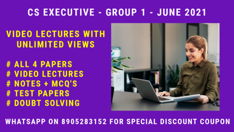 CS Executive - Group 1 - All 4 Subjects - June 2021