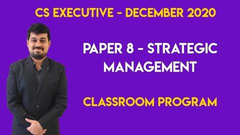CS Executive - Group 2 - Paper 8 - FM & SM - Classroom Program - Dec. 2020