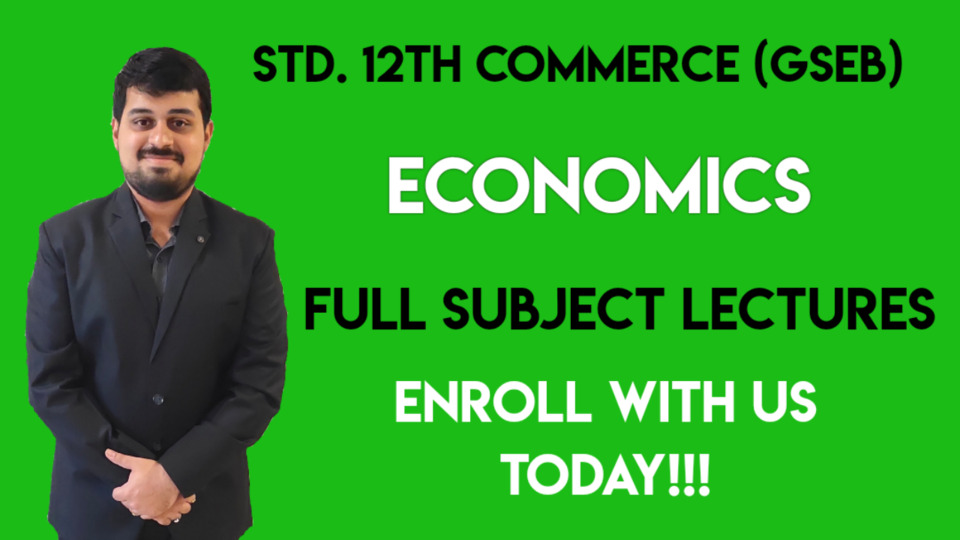 Std. 12th Commerce GSEB - Economics - 2020-21