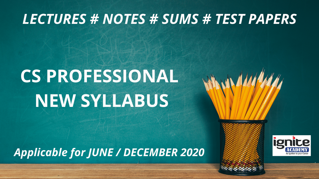 CS Professional Program - New Syllabus - June / Dec. 2020