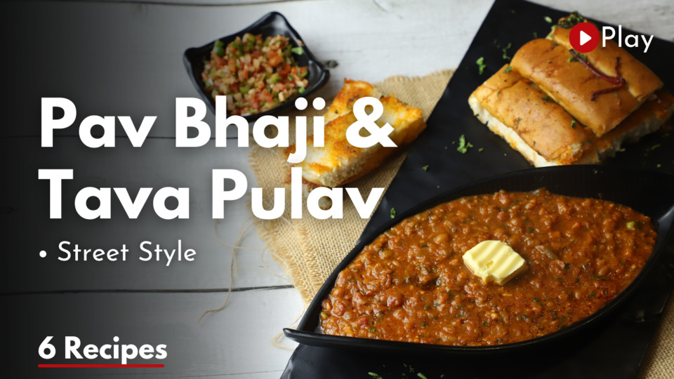 Street Style Pav Bhaji & Pulav with Sizzler Platter
