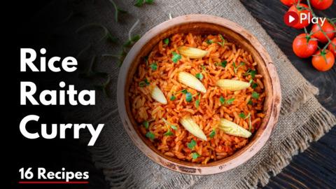 Assorted Rice with Raita & Curry