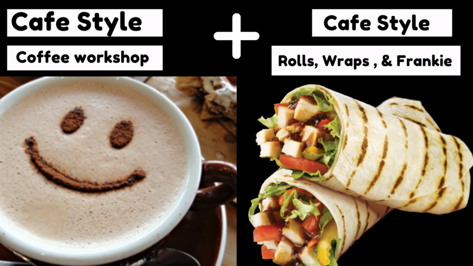 Cafe style coffee & Rolls, Wraps , Frankie Combo
