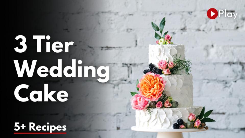 3 Tier Wedding Cake with Fondant Cupcake Articles