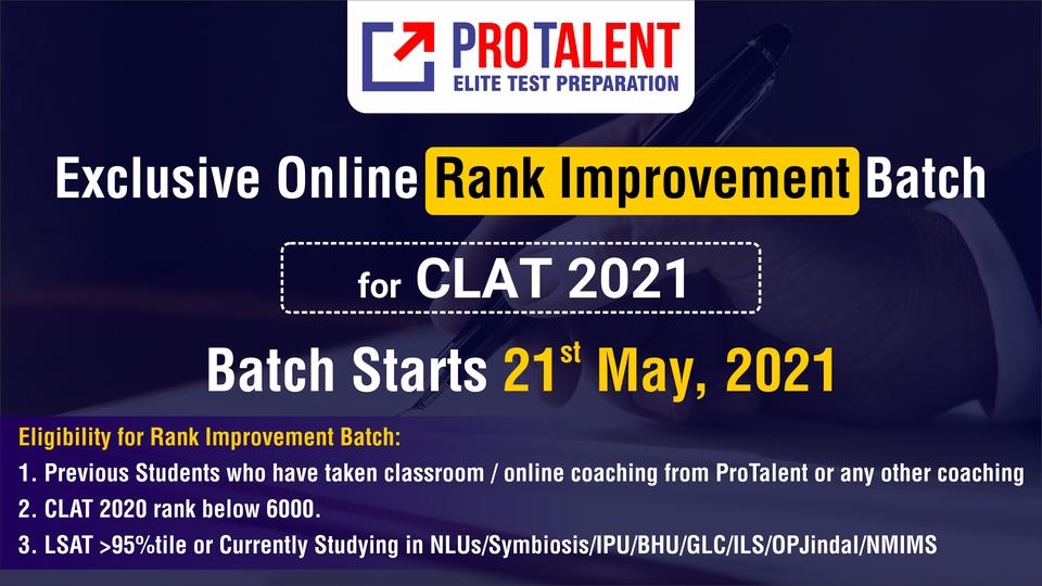 Rank Improvement Program for CLAT 2021