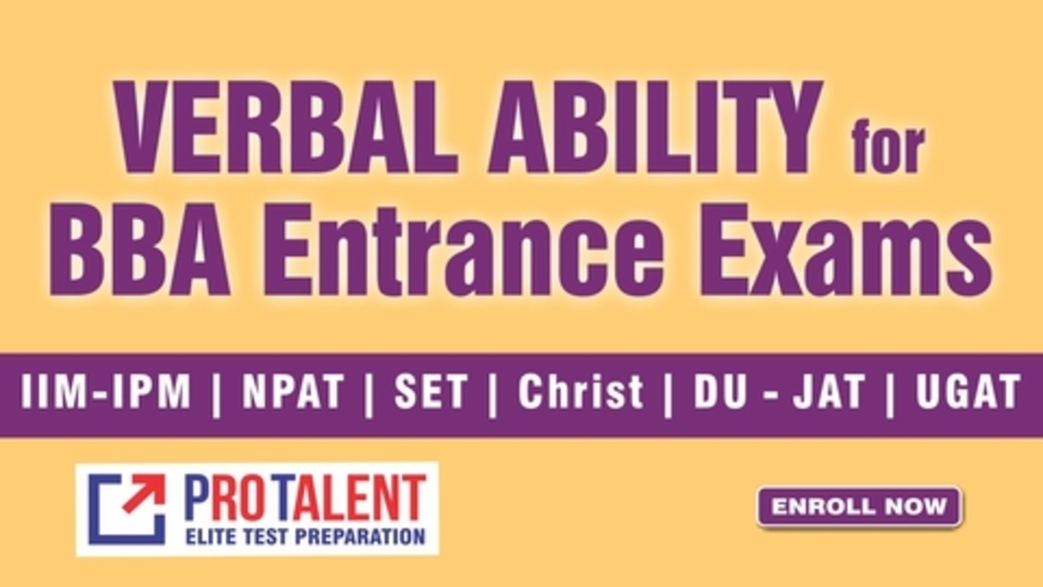 Verbal Ability for BBA Entrance 2021