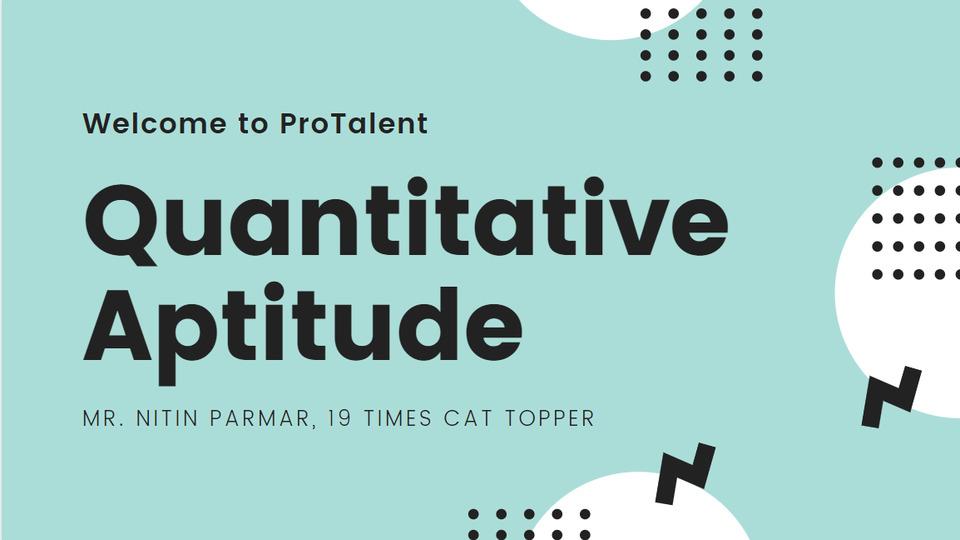 Quantitative Aptitude for CMAT