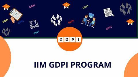 IIM GDPI PROGRAM