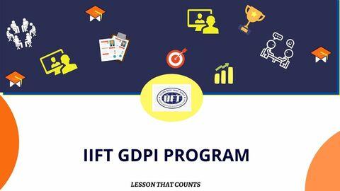 IIFT GDPI PROGRAM