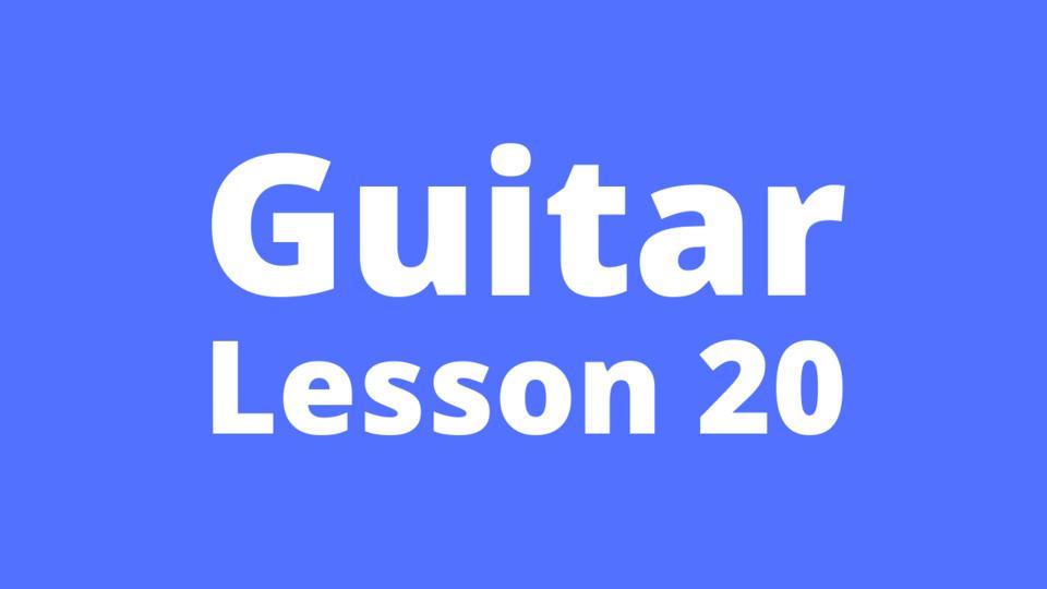Guitar Lesson 20: Waltz beat strumming