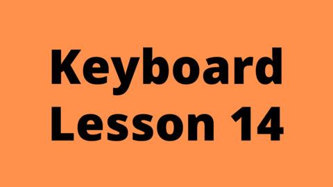 Keyboard Lesson 14: Arpeggios