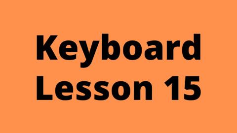 Keyboard Lesson 15: Minor Chord Cycle