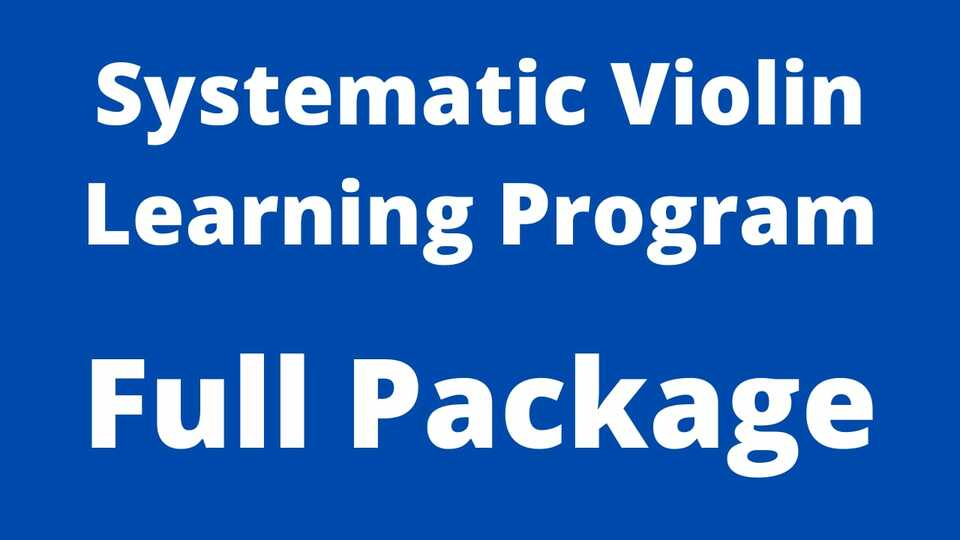 Systematic Violin Learning Program
