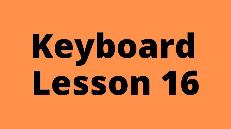 Keyboard Lesson 16: Alankaar